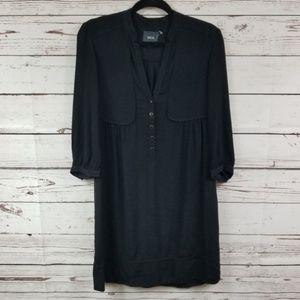 Anthropologie Maeve Black Pocket Shirt Dress S. 2
